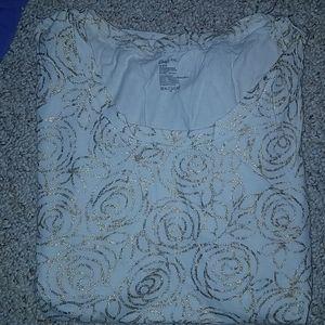 Gold Glitter Rose Shirt